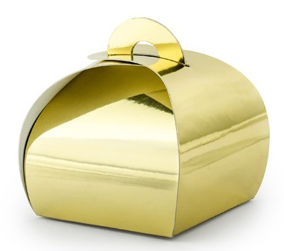 10 Gold Metallic Gift Boxes
