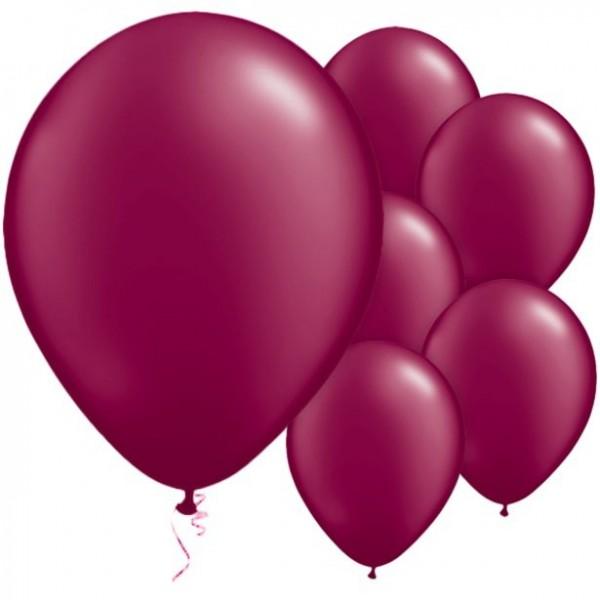 25 globos de látex burdeos 28cm