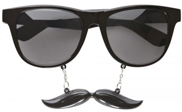 Mafia-Boss Brille Mit Schnäuzer