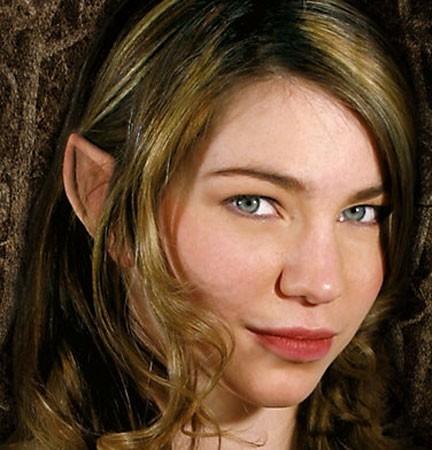 Hautfarbene Elfen Ohren Aus Latex