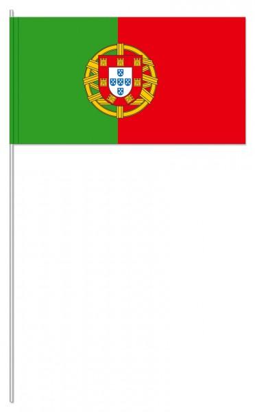 10 drapeaux en papier Portugal 39cm