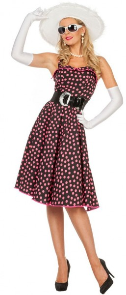 Polka Dots Kleid Rosa Schwarz Kostüm Für Damen