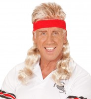 Perruque blonde des années 80 avec serre-tête