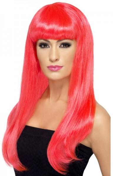 Pinke Beauty Barbella Langhaar Perücke