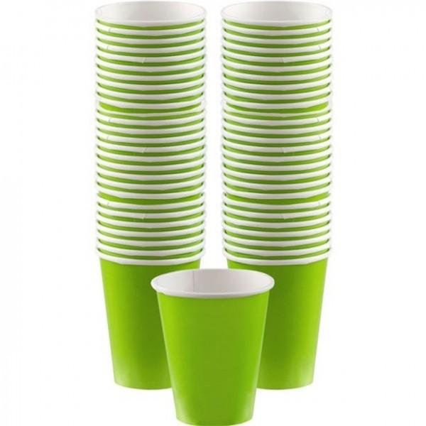40 gobelets en papier vert lime 340ml
