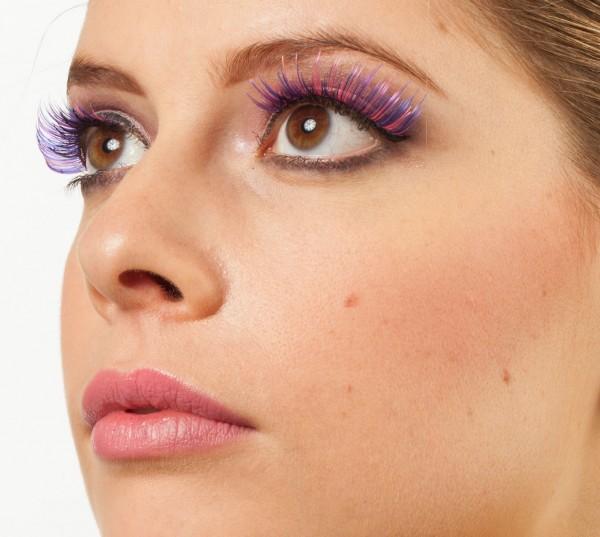 Violette Fließende Wimpern