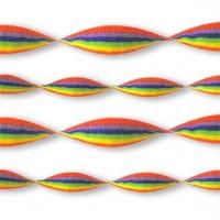 Regenbogenfarbene Luftschlange 24m