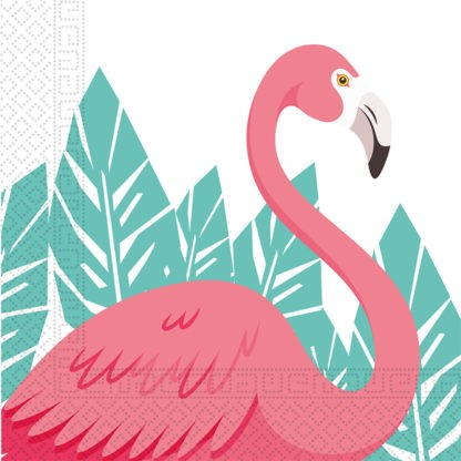 20 flamingo flamenco napkins 33cm