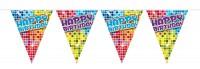 Groovy Happy Birthday Wimpelkette 6m
