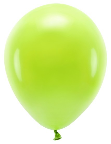 100 eco pastel balloons light green 30cm