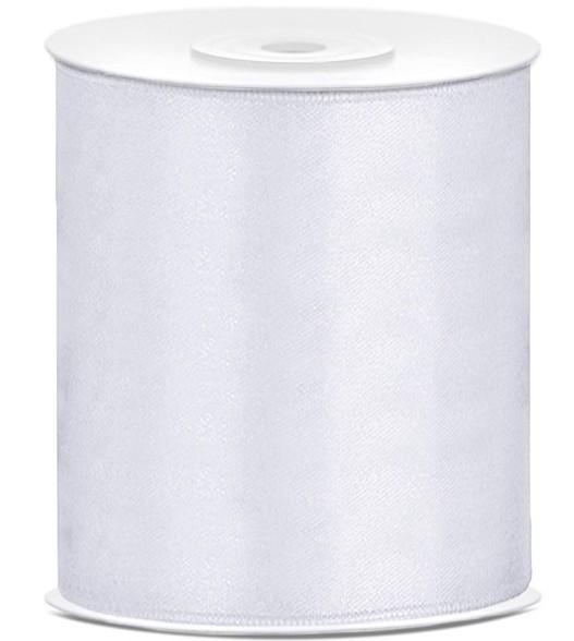 25m Satin Geschenkband weiß 10cm