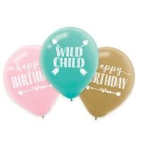 6 Boho Summer Latexballons 27,5cm