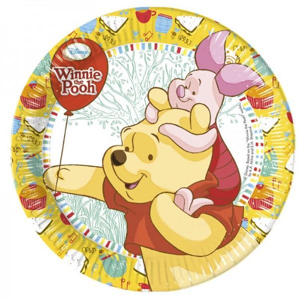 8 Winnie Puuh Pappteller Honey 23cm