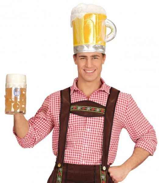 Schuimende bier feestmuts