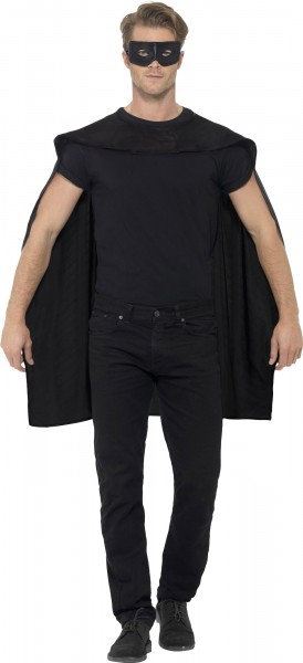Mysterious cape with eye mask