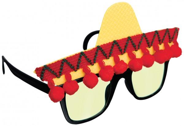 Lustige Sombrero Party Brille Viva La Vida
