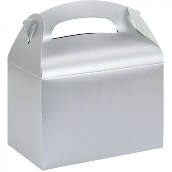 Gift box rectangular silver 15cm
