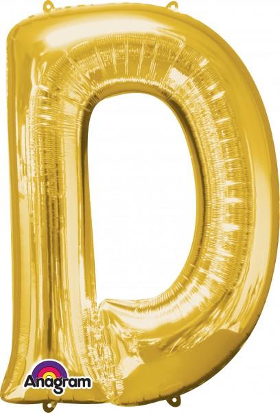 Buchstaben Folienballon D gold 83cm