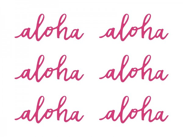 6 Aloha table decorations
