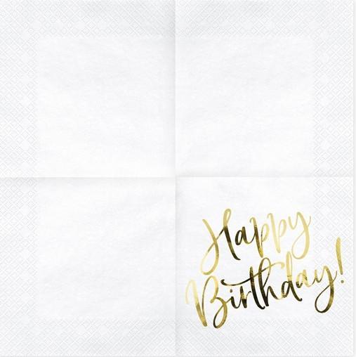 20 Happy Birthday Servietten 33cm 4