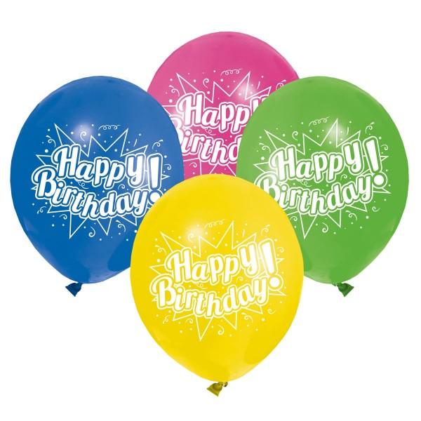 8 Birthday Spektakel Ballons 22cm