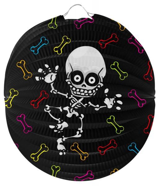 Tag der Toten Laterne mit Skelett