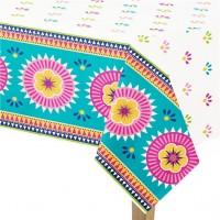 Boho Chic Fiesta Tischdecke aus Kunststoff 1,37 x 2,13m