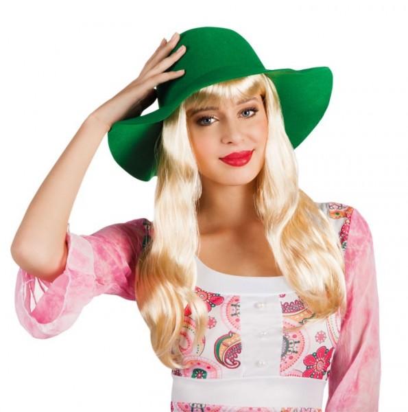 Grüner Damen Schlapphut