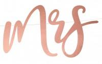 Mr & Mrs Girlande roségold 68 x 16,5cm