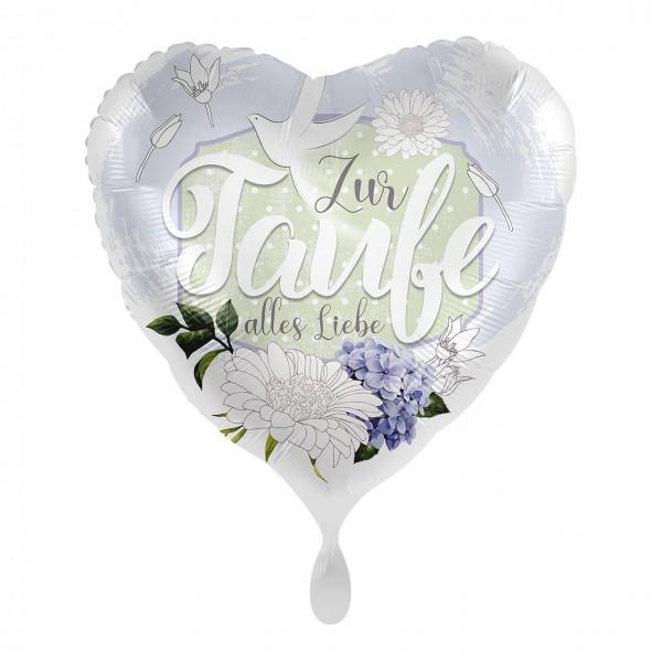 For baptism heart foil balloon 43cm