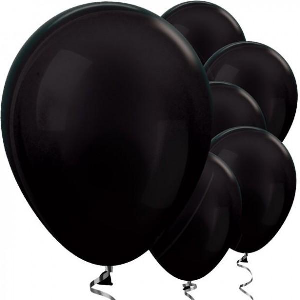50 Schwarze metallic Ballons Jive 30cm