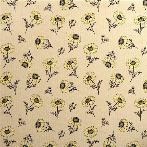 Sunflower eco wrapping paper