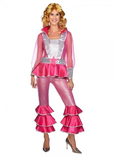 70's Disco Queen Frida Costume Pink Women's