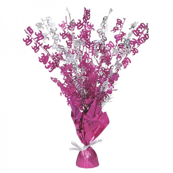 Happy Pink Sparkling 30th Birthday Tischfontane 42cm 1