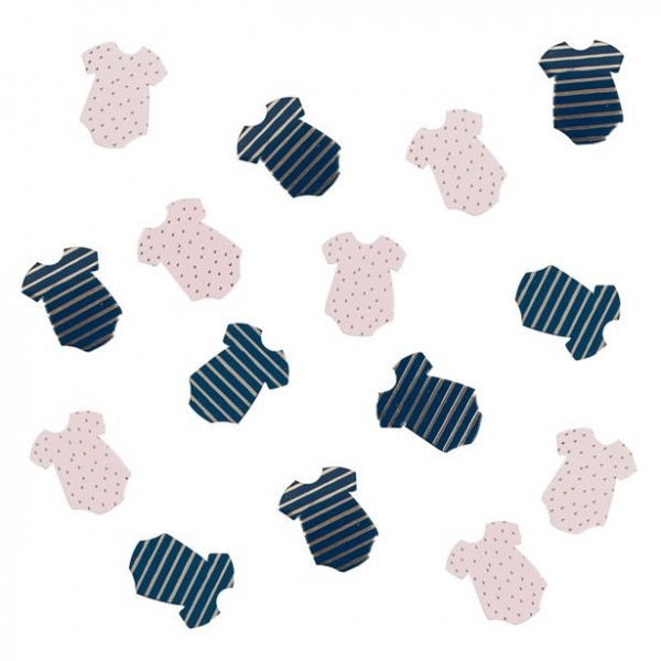 Gender Reveal Confetti en forme de barboteuse 13g