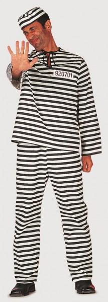 Inmate Gestreiftes Herrenkostüm