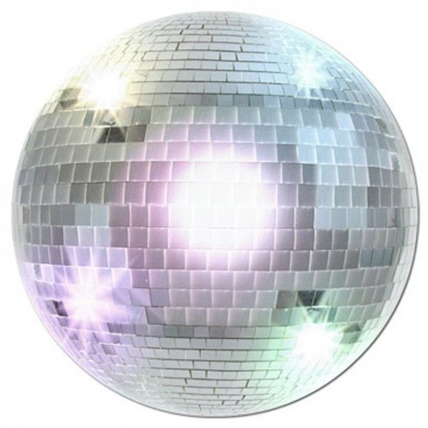 70s Groove Discokugel Wandbild 33,5cm
