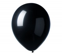 12 Party Luftballons Madrid Schwarz 30cm