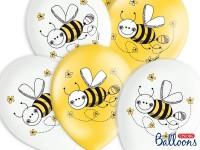 6 süße Honigbiene Luftballons 30cm