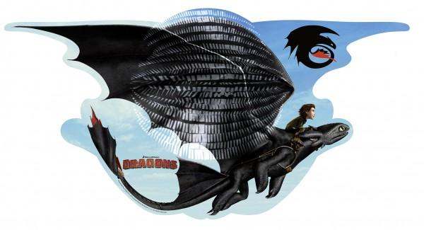 Majestätische Drachen Laterne 24 x 47cm