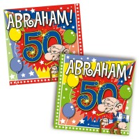 20 Abraham Party Servietten 25cm