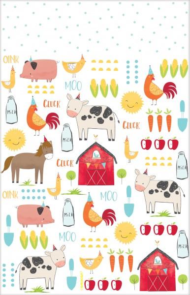 Happy Farm Life Tischdecke 2,59 x 1,37m