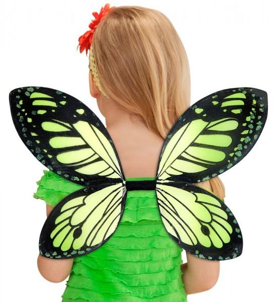 Schmetterlings Feen Flügel Grün