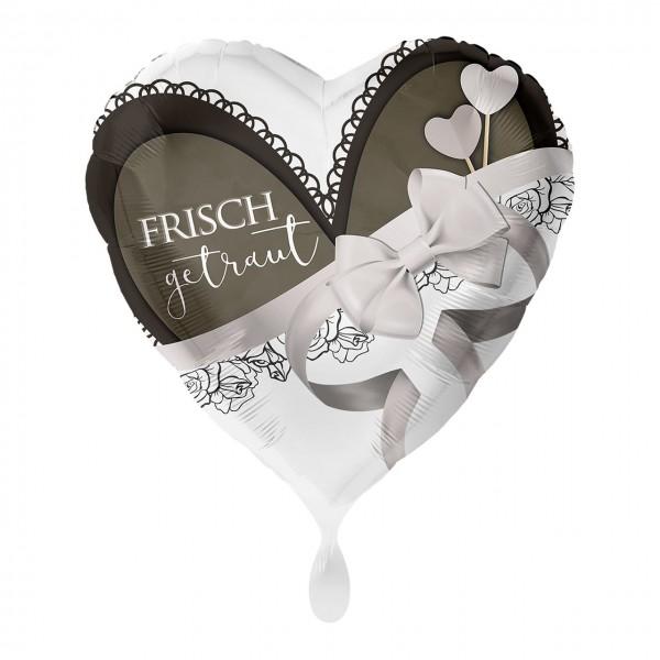 Palloncino foil cuore appena sposato 43 cm
