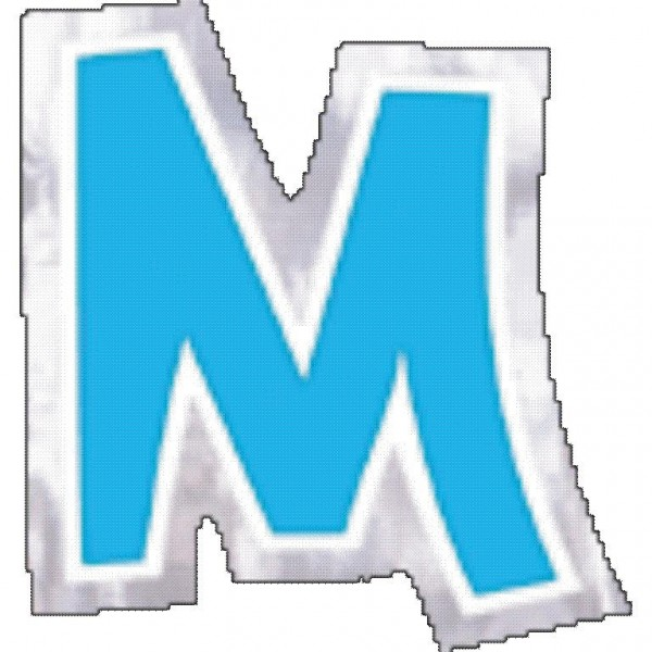 48 balloon stickers letter M.