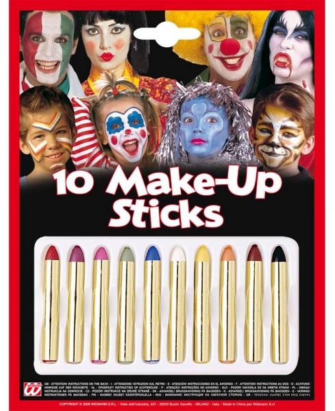 Make-up potloden set van 10 kleuren