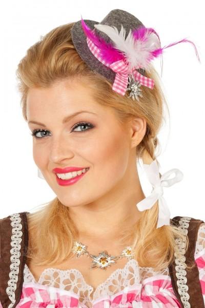 Mathilde Mini Trachtenhut in Rosa