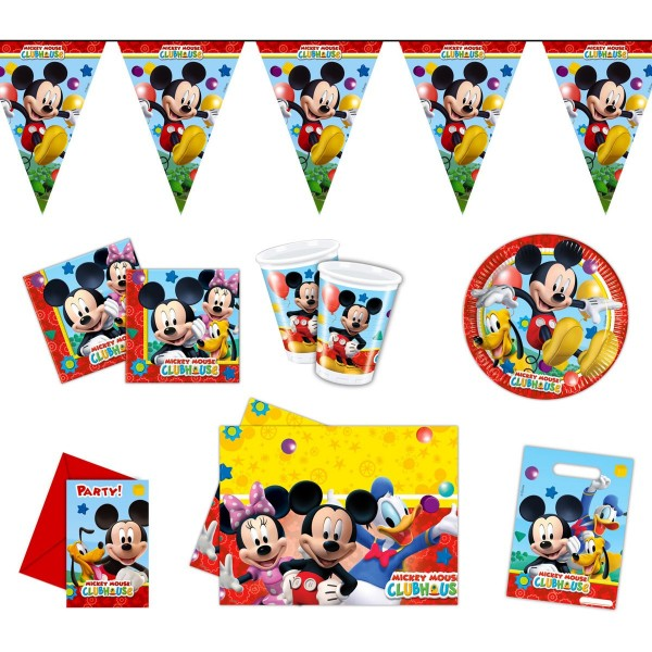 Mickey Mouse Deko- Und Besteck-Set