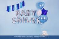 Folienballon J silber 35cm