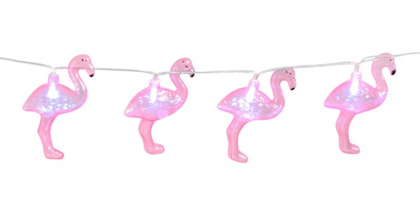 Cadena de luz LED Flamingo 140cm